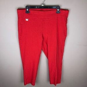 Rafella Comfort Red Capri Pants